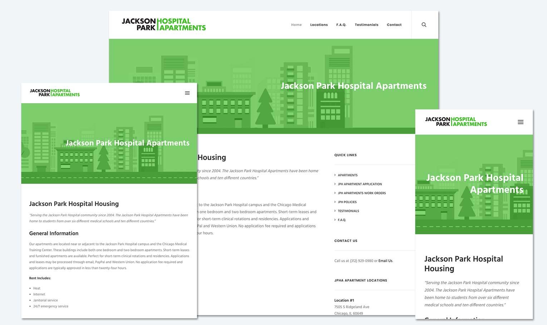 Jackson Park Hospital Apartments – Website Screen Grabs – Kural Design Work
