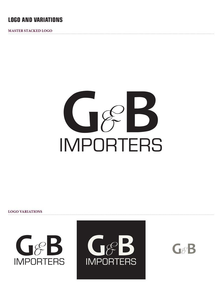G & B Importers Branding Style sheet revised