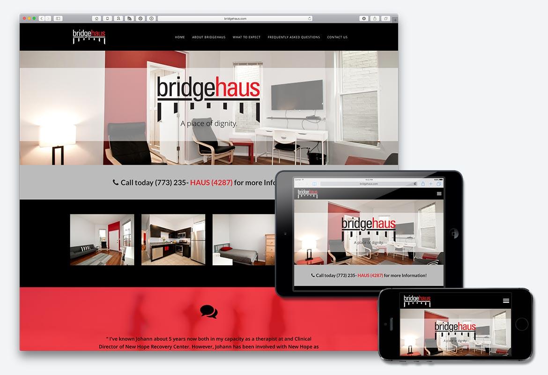 bridgehaus.com website screen shots – Kural Design