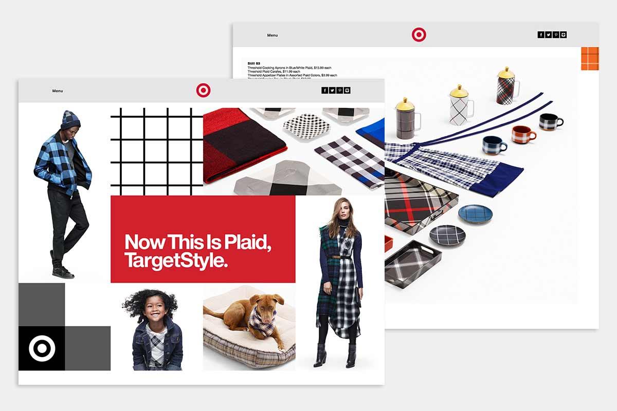 Plaid at Target 2015 - kural design work